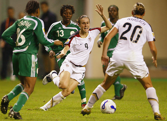 After a slow start, Heather O'Reilly made her presence felt on the field against Nigeria.