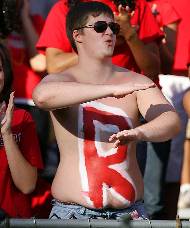 Although Rutgers was upset by Maryland, the lucky women of Piscataway had this stud to keep their mind off the loss.