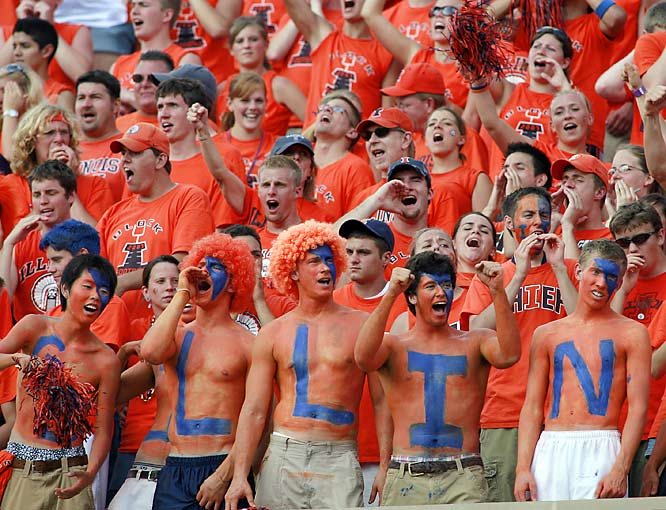 Illinois Students were on their feet during the first quarter of Saturday's game against Wisconsin.