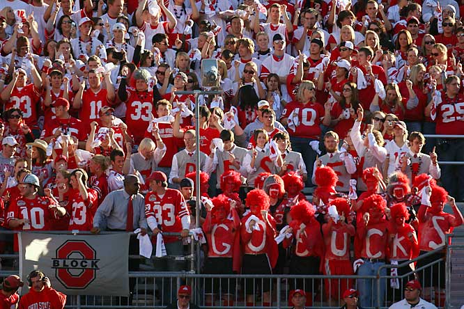 Fans of the top team in the nation enjoy a 24-17 victory over Michigan State.