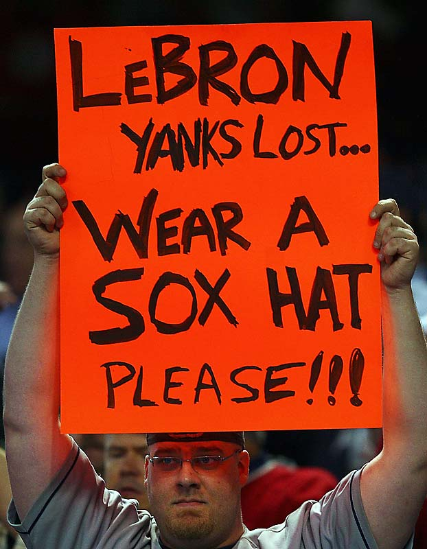 This Indians fan hasn't gotten over LeBron James wearing a Yankees hat during the division series...