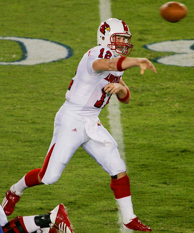 The Cardinals have been one of the season's biggest letdowns, but it's definitely not Brohm's fault. Louisville's veteran signal caller ranks third in passing yards per game (374.13). Brohm will probably be the highest quarterback taken in next year's NFL Draft.