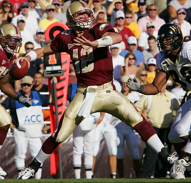 Ryan is flourishing under new head coach Jeff Jagodzinski, who runs a more wide-open offense than former Eagles coach Tom O'Brien. Ryan, a legitimate Heisman Trophy candidate, has guided Boston College to a 7-0 start and No. 2 ranking -- the school's highest since 1942.