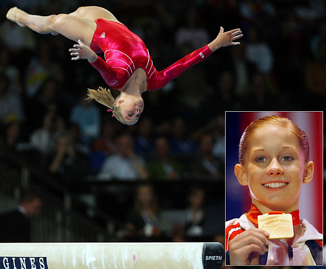 The 15-year-old gymnast from Iowa became only the fourth American woman to win the all-around title at the World Championships. She followed in the footsteps of Shannon Miller, Chellsie Memmel and Kim Zmeskal.