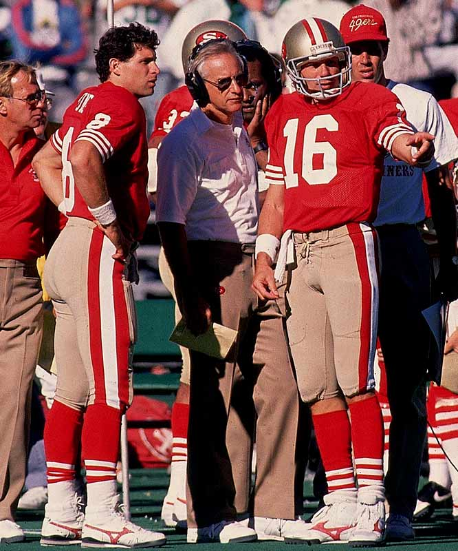 As Montana's can't-miss, Canton-bound career with the dynastic 49ers wound down, Young was frothing at the mouthpiece for his chance. Montana had led the Niners to four Super Bowl triumphs. Young added a fifth. Both are in the NFL Hall of Fame.
