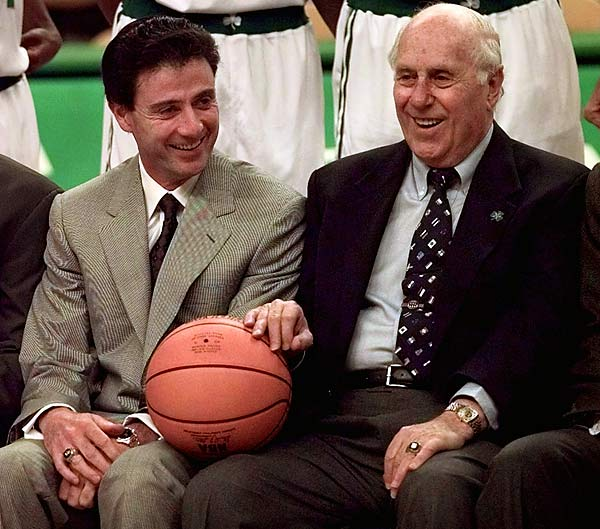 What becomes a legend less? Replacing a real legend. A Kentucky icon after saving UK and taking the '96 NCAA title, Pitino flopped as Celtics coach and president. Red led Boston to 16 NBA crowns as coach,GM and president. Pitino? Not even close, and no cigar.