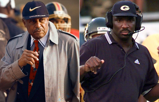 Two legends of the fall: Robinson, the architect of Grambling football and first coach to win 400 games. Williams, his star QB, a Super Bowl MVP and Coach Rob's successor in '98. Despite SWAC titles from 2000-02, Williams wisely went the NFL personnel route.