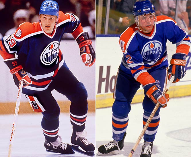 Poor Carson. Not only was he part of the blockbuster trade that sent the Great Gretzky from Edmonton to Los Angeles, but also he wound up centering the Oilers' first line. A good player in his own right, Carson demanded a trade after one year. He hated living in Edmonton, and couldn't cope with the pressure of following Gretzky. Request granted.