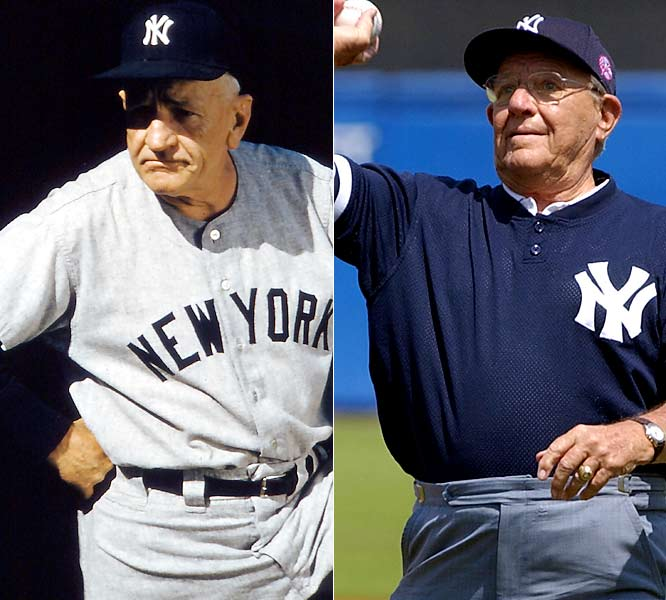From the Ol' Perfesser to the Major, who had a major problem in the early '60s: Houk oversaw the last days of the Yankee dynasty. From 1949 to '60, Stengel won 10 pennants and seven World Series (five straight from 1949 to '53) and spoke ''Stengelese.'' Houk won the Fall Classic in '61 and '62, but was gone after being swept in '63 by the Dodgers.