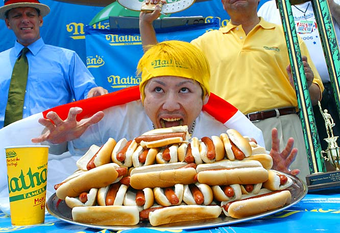 The Michael Jordan of competitive eating, Kobayashi's streak of sixth consecutive hot-dog-eating belts in the Nathan's Famous Fourth of July tussle in New York was stopped this summer by Joey Chesnutt. The former champ had a wisdom tooth extracted in June and received chiropractic treatment for a sore jaw before losing his championship. But, rest assured, he will be back to eat another day.