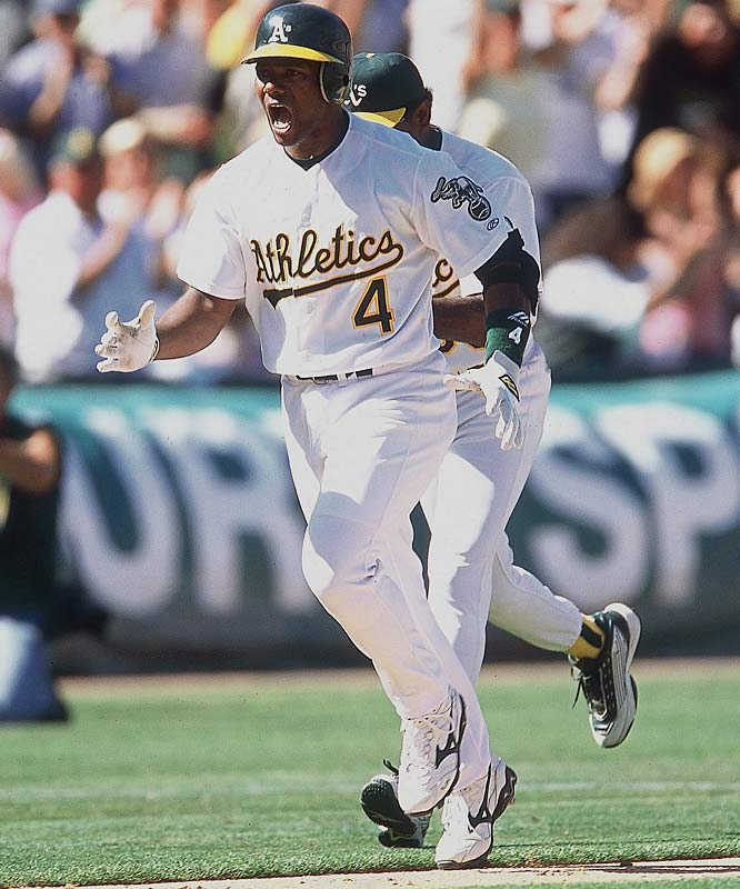 The Moneyball A's set the American League record with a 20-game winning streak from Aug. 13 through Sept. 4 that catapulted them from 4.5 games back in the AL West to a 3.5-game lead. Miguel Tejada batted .366 with three home runs during the streak to lock up the MVP award.