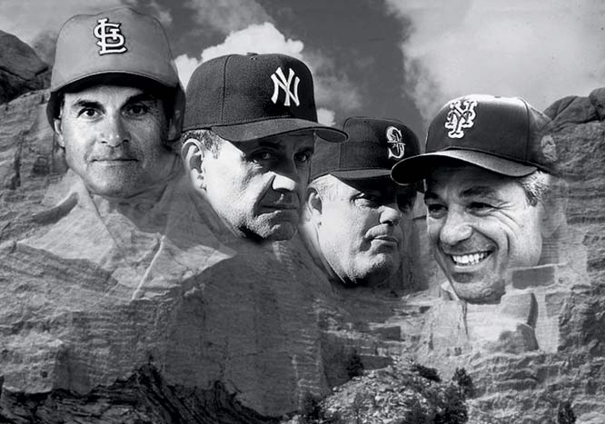 Tony La Russa, Torre, Lou Piniella and Bobby Valentine were the Mt. Roushmore of managers in 2000.