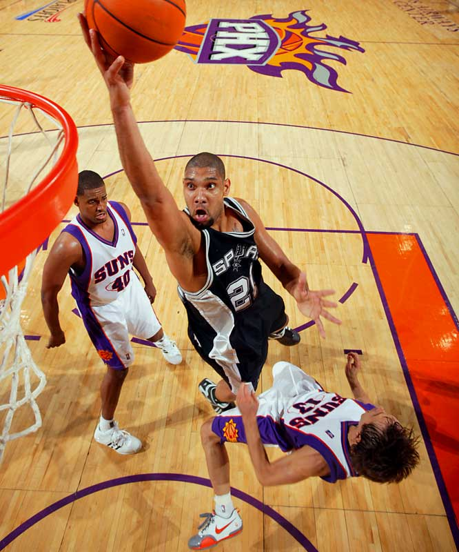 The ultimate example of making an impact? How about this: Since Duncan's arrival in 1997, the Spurs have the best winning percentage in major professional sports (.709, 559-229). Behind Duncan, the Spurs have won four of the last nine championships.