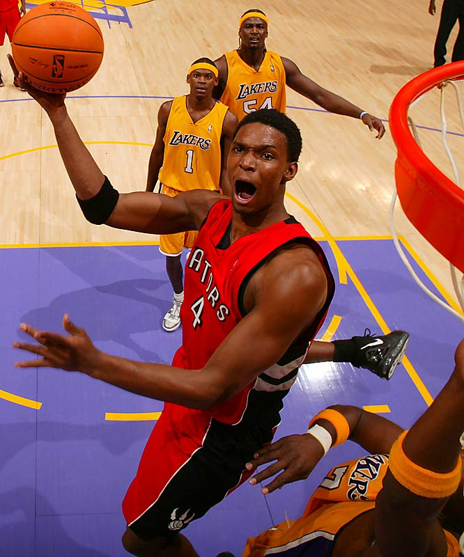 The overlooked star in the LeBron-Carmelo-Wade '03 draft class, all Bosh did last season was average 22.6 points and 10.7 rebounds and lead the Raptors to the first division title in their 12-year history. No wonder his preseason knee injury was such cause for concern in Toronto.
