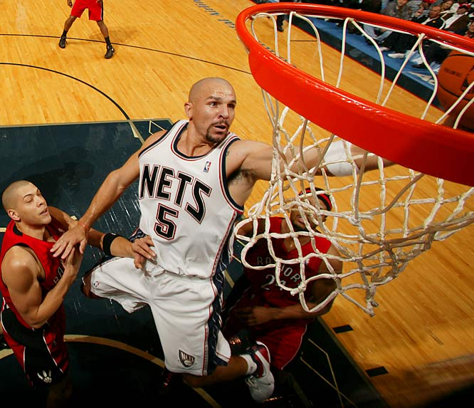 Like Steve Nash, Kidd isn't slowing down in the latter part of his career. The 34-year-old point guard had a career-high 12 triple-doubles in 2006-07 and joined Magic Johnson and Oscar Robertson as the only players to average at least 13 points, eight rebounds and nine assists in a season.
