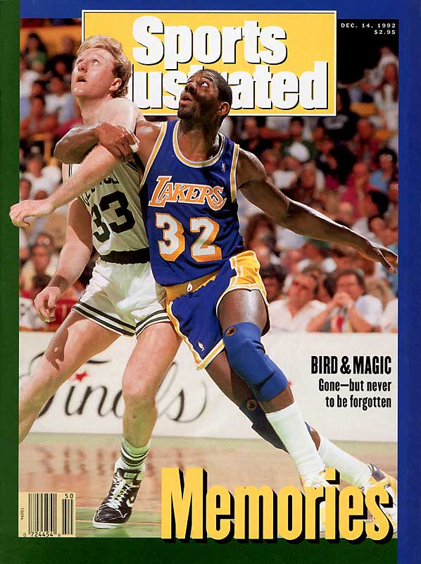 Larry Bird and Magic Johnson are forever linked as rivals on the court and saviors of the NBA's box-office appeal and TV ratings. This gallery chronicles their careers.