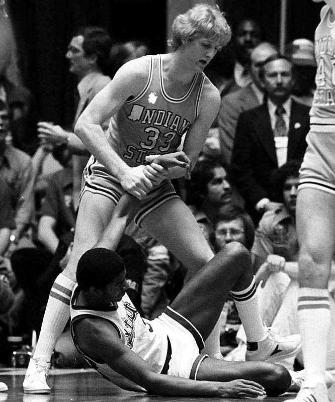 Their rivalry was born in the Midwest during the 1978-79 college basketball season, with Johnson's Michigan State team beat Bird's Indiana State club 75-64 for the NCAA men's championship. Both headed to the NBA that spring, Bird already bound to Boston after being drafted as a junior eligible in '78 and Johnson to the Lakers thanks to a coin flip won against Chicago (the Bulls wound up with David Greenwood).