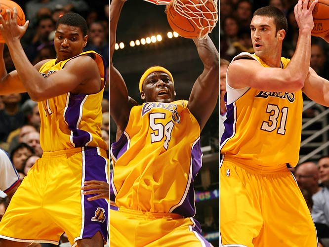 L.A.'s three-headed monster at center has been mostly a horror show so far, with Brown proving too inconsistent, Bynum too raw and Mihm too injury-prone. The Lakers need one of these three former lottery picks to step up and seize the job. Kobe Bryant will be watching closely.
