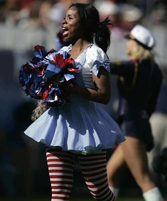 San Diego Chargers Cheerleader Costume: NFL Cheerleaders - Week 8