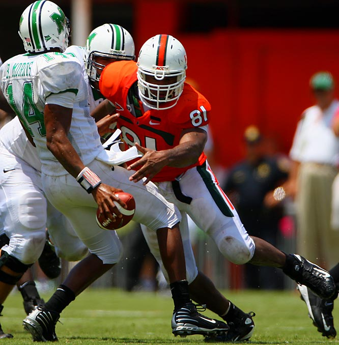 A preseason favorite to possibly be the first selection of the draft, Campbell has played uninspired football this year.  The most recent word is that Campbell could return to Miami for his senior campaign.<br><br>* Denotes Underclassman