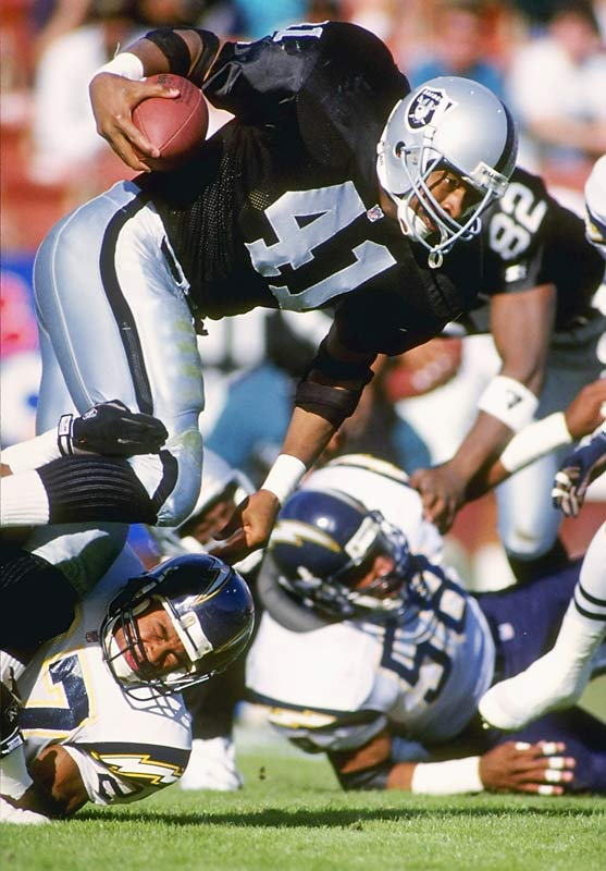 Oct. 12, 1988:  San Diego acquires RB Napoleon McCallum; L.A. Raiders acquire OT Jim Lachey.  The Chargers traded for McCallum in the middle of the Navy grad's five-year military obligation as a lieutenant junior grade assigned to a naval vessel. One year after establishing the Division I-A record for career all-purpose yardage with the Midshipmen, McCallum had played part-time for the Raiders in '86 while stationed aboard a ship harbored in nearby Long Beach. But by the time his service was fulfilled in 1990, the Chargers had already returned his rights to the Raiders -- for whom McCallum scored five touchdowns in a pair of AFC playoff games before a gruesome knee injury prematurely ended his career in the '94 regular-season opener.