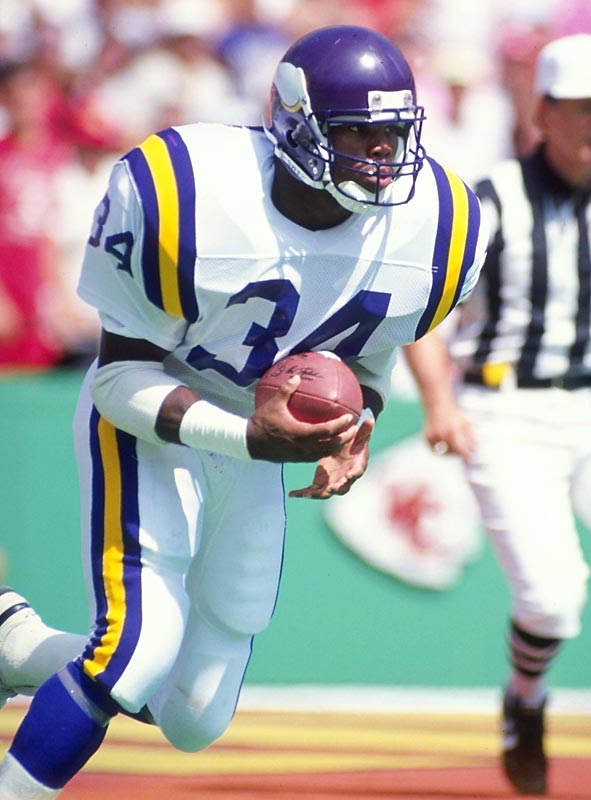 Oct. 12, 1989:   Minnesota acquires RB Herschel Walker and four draft picks; Dallas acquires five players, six conditional draft selections and a 1992 first-round selection.  With the largest player trade in NFL history, the cellar-dwelling Cowboys laid the groundwork for their '90s dynasty in one fell swoop. Dallas drafted future Hall of Fame running back Emmitt Smith and Pro Bowl safety Darren Woodson with two of the selections while dealing another to the Patriots for the No. 1 pick in the '91 draft: stout defensive tackle Russell Maryland. Jimmy Johnson would use the others to wheel and deal throughout the decade, trimming and pruning his juggernaut. Meanwhile, Walker never managed a 1,000-yard rushing season with the Vikings and the team failed to win a postseason game during his tenure in the backfield.