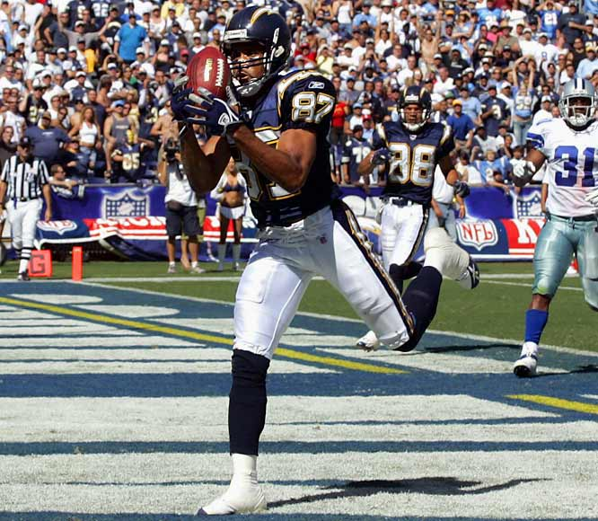 Oct. 19, 2004:  San Diego acquires WR Keenan McCardell; Tampa Bay acquires two draft picks.  After holding out throughout training camp, McCardell vowed to sit out the season if the Bucs didn't raise his $2.5 million salary. Tampa Bay instead dealt the former Pro Bowl wideout to San Diego for third- and sixth-round draft picks in '05. The move came just two days after the Chargers lost leading wideout Reche Caldwell for the season with a knee injury. The 34-year-old McCardell brought maturity to a young receiving corps. He had a career-high nine touchdown receptions the following season.