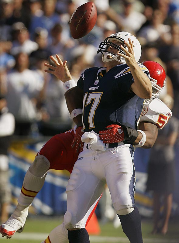 Rivers threw two interceptions in a home loss to the Chiefs and lost a fumble that the Chiefs returned for a touchdown in the fourth quarter. Rivers' mistake-free play from last year seems like a distant memory with San Diego in a 1-3 hole.