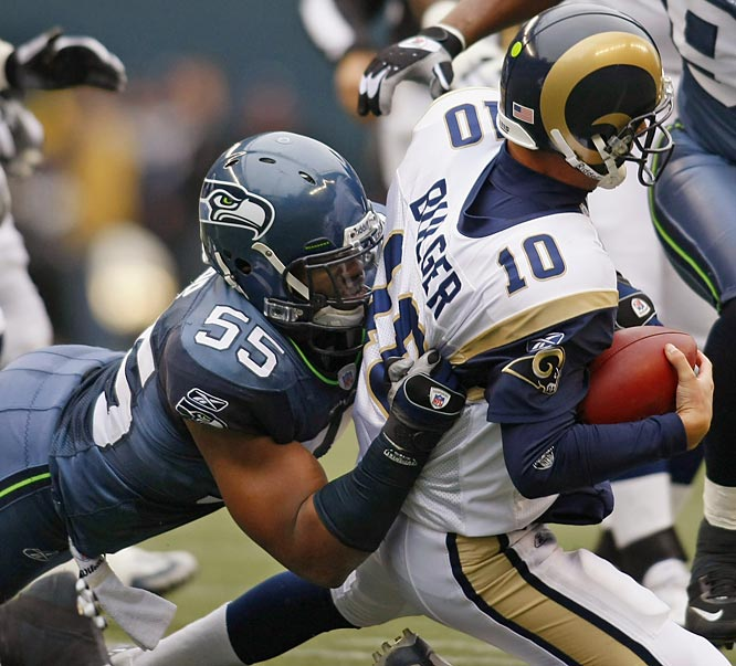 Tapp entered Sunday's game with 4.5 career sacks. He then sacked Rams quarterback Marc Bulger four times -- tying a Seahawks record.