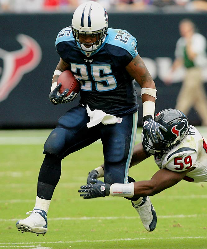 White has been a bit of a disappointment since the Titans took him in the second round of the 2006 draft. But his hard-fought, career-high 104 rushing yards Sunday were huge in Tennessee's 38-36 win over Houston.