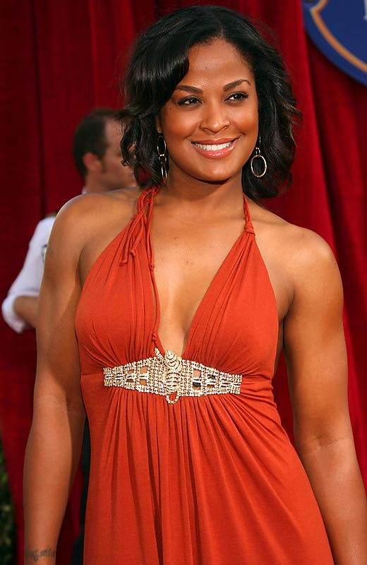 Laila Ali kept it simple and feminine in a halter dress for the Ratatouille premiere in L.A.