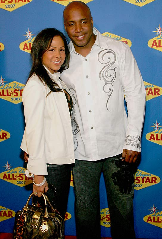 Barry and Liz Bonds, coordinated in matching denim, kept it laid back at the 2007 NBA All-Star game.