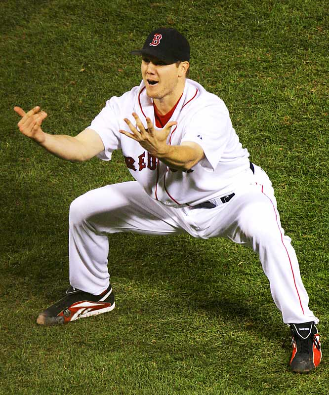 After Papelbon put the nail in the coffin, he told his teammates to bring on the celebration.