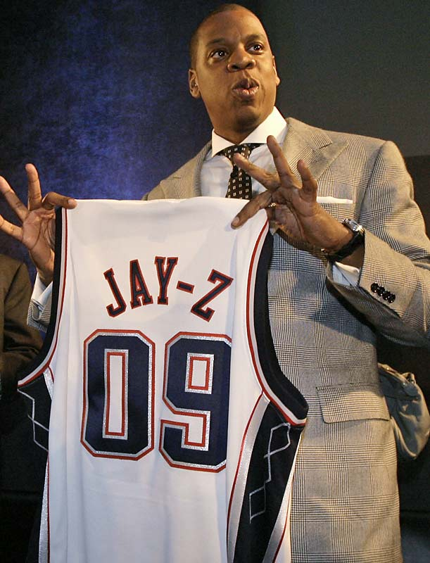 The multi-platinum rap icon, who grew up playing hoops in Brooklyn, liked the New Jersey Nets so much he bought a stake in their ownership group. The Nets now play in a new arena in Jay-Z's old `hood.