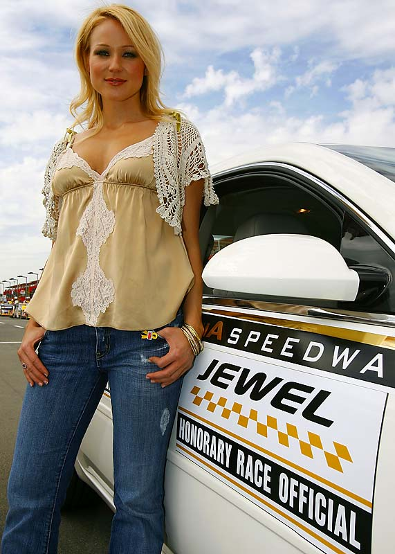 The sensitive singer-songwriter-poet, a four-time Grammy-nominee, has a thing for thunder. A NASCAR fan and official spokesperson who has performed at the Nextel Cup Awards ceremony, Jewel was behind the wheel in the racing reality show Young Guns.