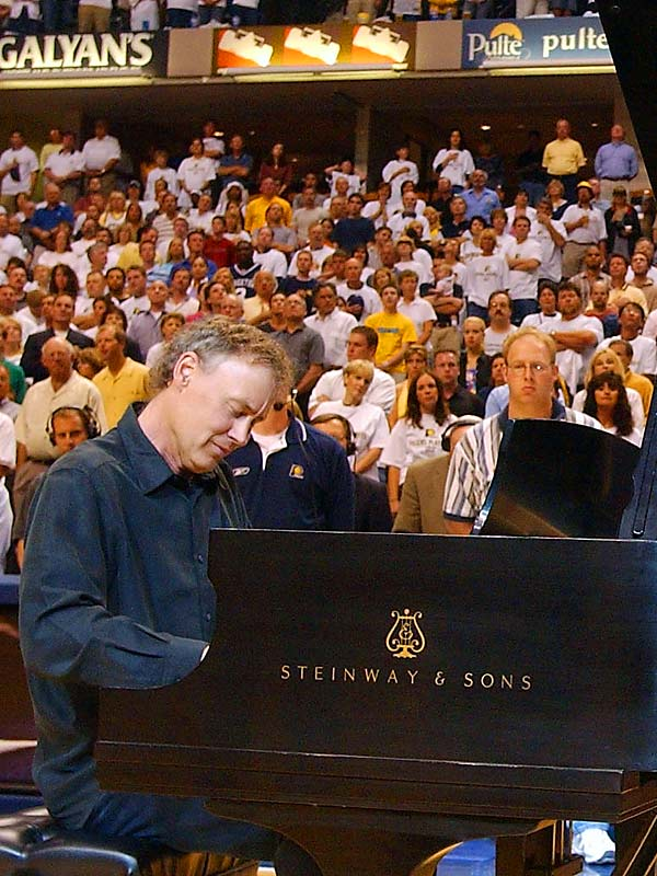 """The 6' 4"""" songwriting piano whiz, playing at the 2004 NBA Eastern Conference Finals, was a basketball standout at James Blair High in Williamsburg, Va. Hornsby befriended Allen Iverson in 1993."""