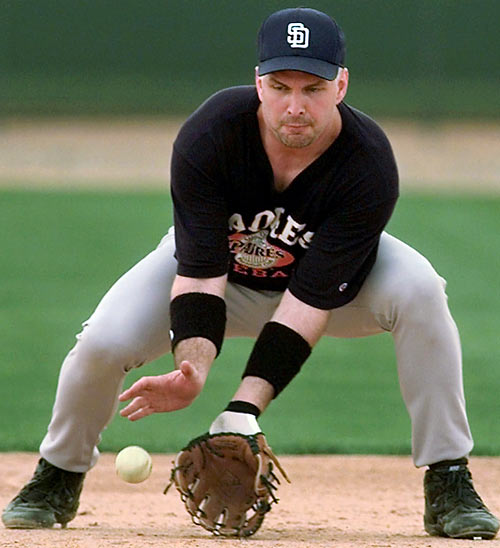 The country music superstar is no stranger to Major League parks. Brooks fulfilled a dream by playing for the San Diego Padres in a spring training game against the Cubs in 1998. He pinch ran for Wally Joyner.