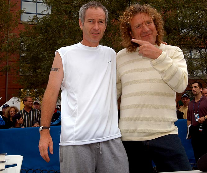 Talk about a Whole Lotta Love. The legendary lead singer for Led Zeppelin is a tennis buff who has taken lessons with former pro Pat Cash and befriended John McEnroe.