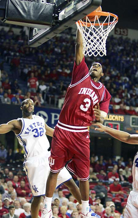 D.J. White (pictured), Mike White, Eli Holman<br><br>Holman, a four-star, 6-10 freshman from Richmond, Calif., could start at center from Day One ... as long as the NCAA declares him academically eligible. That decision is still pending. It'll affect where Hoosiers star D.J. White -- who's the only reason they're on this list -- is positioned for his senior season. He averaged 13.8 points and 7.3 rebounds playing the five in '06-07, and would presumably be more effective playing alongside another legitimate big man.