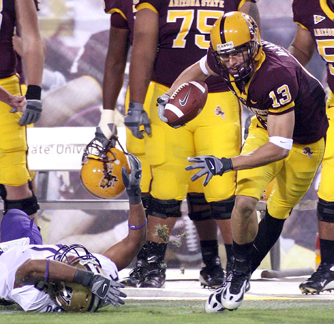 Chris McGaha caught five balls for 73 yards as the Sun Devils ended the day as the Pac-10's last remaining undefeated team.