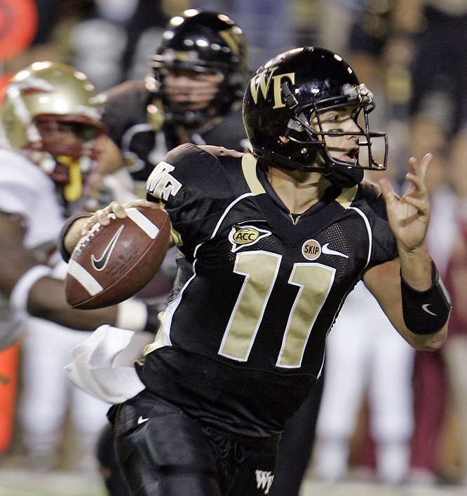 Riley Skinner threw for 215 yards and two touchdowns in leading the Demon Deacons past the Seminoles for the second straight season.