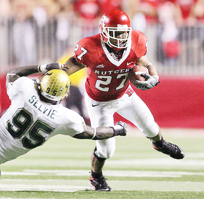 Ray Rice ran wild on South Florida for the third straight season. Rutgers' star running back carried the ball 39 times for 181 yards and the Scarlet Knights knocked off the second-ranked Bulls in front of a raucous crowd in Piscataway.