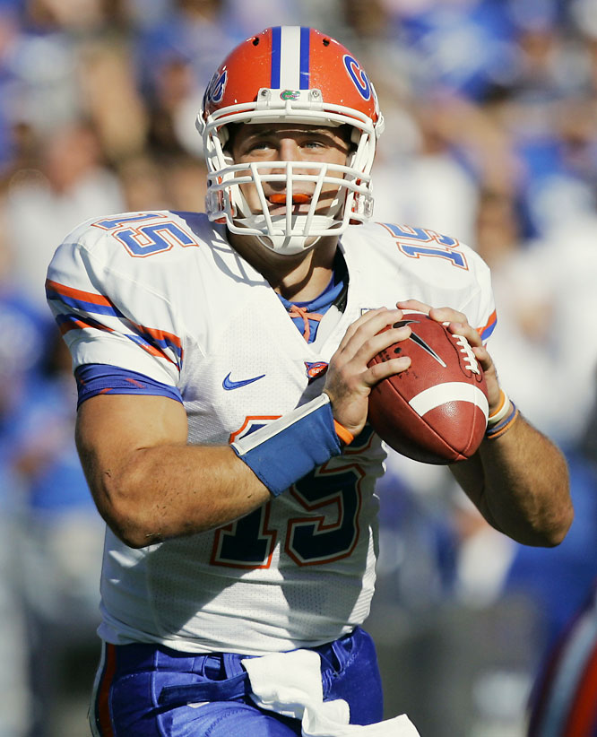 The Gators prevailed in a high-octane, SEC shootout. Heisman Trophy candidate Tim Tebow threw four touchdown passes and ran for an additional score.