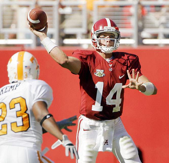 John Parker Wilson threw for a career-high 363 yards and three touchdowns in the Crimson Tide's blowout win over the 20th-ranked Vols.