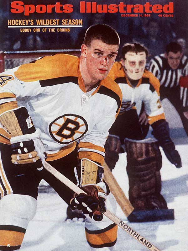 Bobby Orr revolutionized the game as an offensively-gifted defenseman with a not-so-charming personality. The Bruins won Stanley Cups in 1970 and '72 and made for good rivals of the Broad Street Bullies.