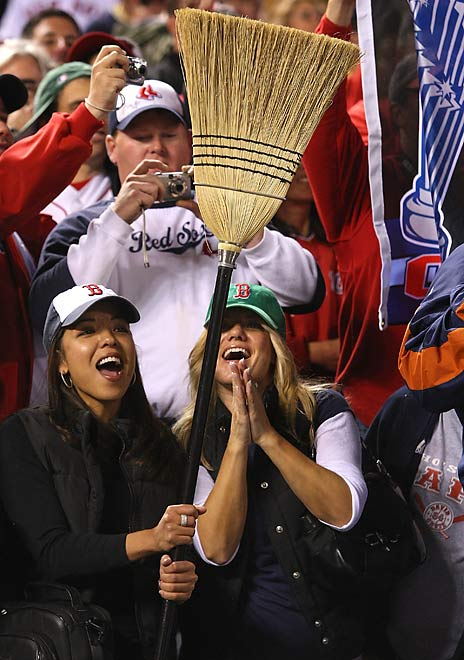 Boston fans were correct in having their brooms out in Game 4 in preparation of a sweep.