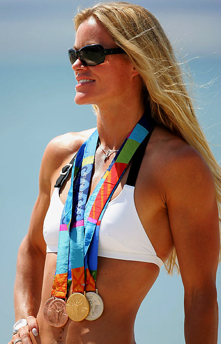 """Invincible Inky."" That became the Dutch swimmer's moniker. Inky was a four-time Olympic champ, winning gold in 2000 in Sydney in the 50 and 100-meter freestyle and the 100 butterfly. She repeated in the 50 free in Athens in '04 and retired last March. ""I'm 33,"" she said then. ""In swimming, that's a grandmother."" That's Inky."