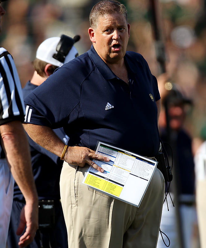 "The former NFL coach is lording over a football debacle at Notre Dame. The Irish lost to Georgia Tech in the opener. They were blanked by Michigan and USC. They lost to Navy for the first time in 44 years. And the next week they lost to Air Force. They have won one game at home. As cancharlie.com put it recently, ""We're 1-9. Anyone want to defend Weis?"""