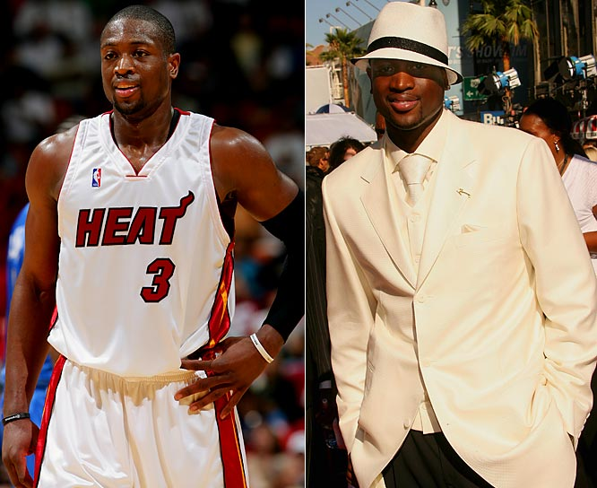 """Flash""? You betcha. He's the epitome of South Beach style. <i>GQ</i> calls him the best-dressed player in the NBA. Whatever he's wearing, DWade brings the heat."