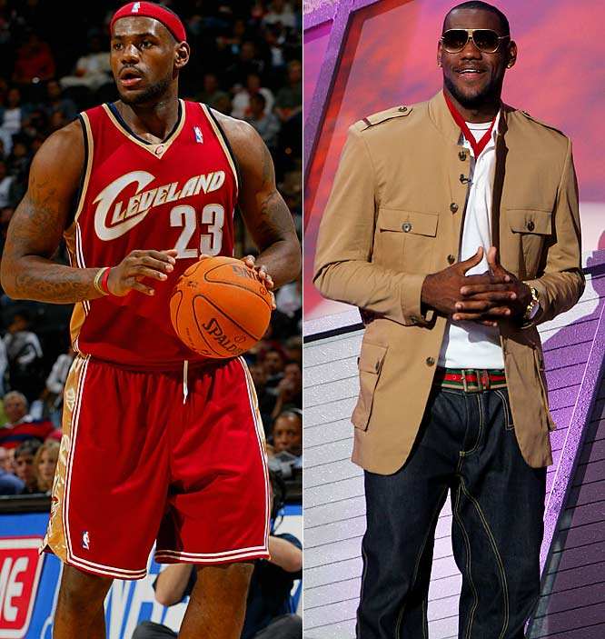 That Yankees hat at an Indians playoff game notwithstanding, King James' wardrobe always fits. Dubbed the worst-dressed player at the 2003 NBA draft, he's now fashion royalty.
